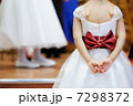 Beautiful bow on flower-girls dress