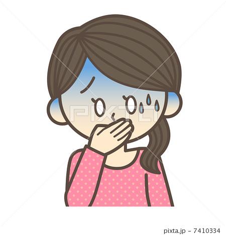 吐き気がする女性 7410334   吐き気のイラスト素材