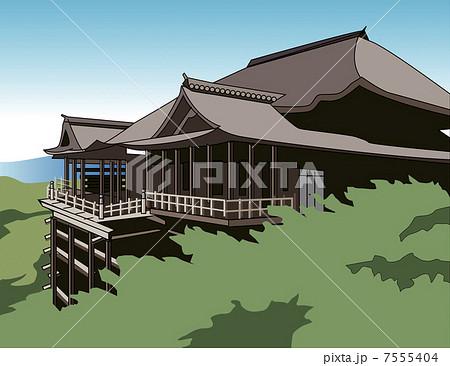イラスト素材: 清水寺