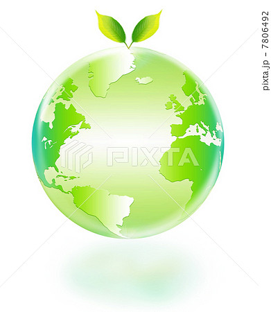 地球エコイメージ 双葉と地球 大西洋 78064... 地球エコイメージ 双葉と地球 大西洋のイ