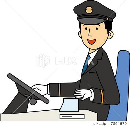 案内をするバスの運転手 7864679  案内をするバスの運転手  案内をするバスの運転手のイラ