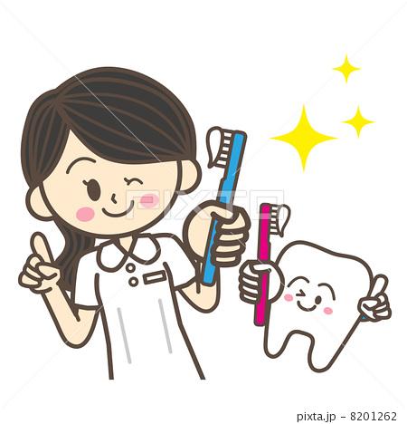 歯科衛生士と歯のキャラクター 8201262  歯科衛生士と歯のキャラクター    歯科衛生士と