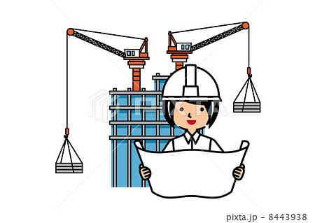 現場監督と建設現場 8443938 現場監督と建設現場のイラスト素材 [8443938] - P