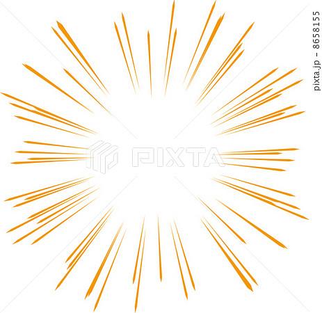 集中線による強調の背景 集中線による強調の背景 集中線による強調の背景   強調のイラスト素材