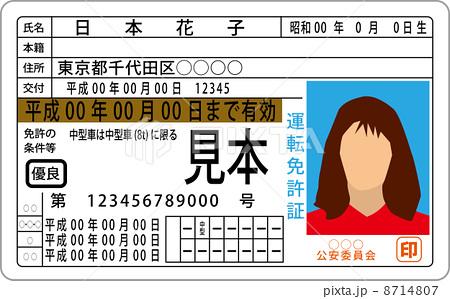 運転免許証 8714807 運転免許証のイラスト素材 [8714807] - PIXTA