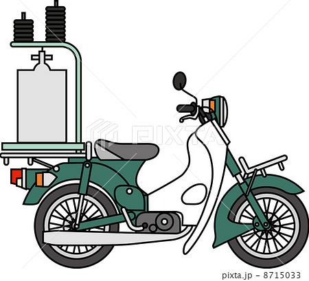 出前用バイク 8715033  出前用バイク 画質確認   出前用バイクのイラスト素材 [871