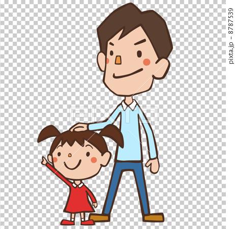 插图 工艺品 人物 父亲抚养孩子 矢量 人  *pixta限定素材仅在pixta