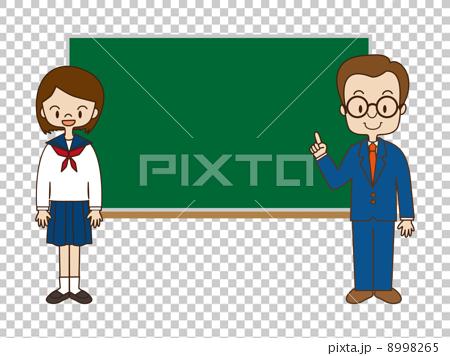 图库插图: 女孩 高中生 插图
