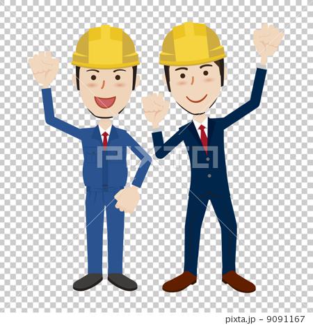 图库插图: 握拳 矢量 建筑业