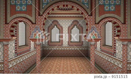 古风手绘宫殿线稿