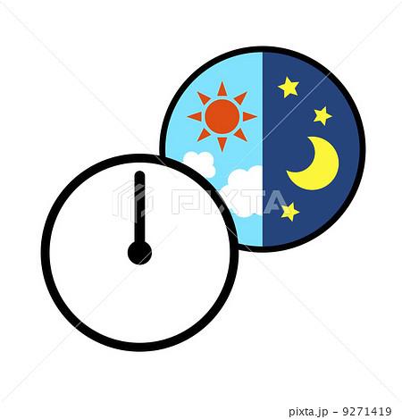 朝と夜 9271419 朝と夜のイラスト素材 [9271419] - PIXTA
