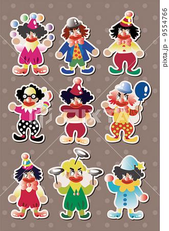 插图: 卡通 马戏团 小丑