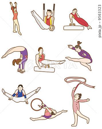 奥�9l��i#�㬺`d�l%9i)�f_插图: 插图 奥林匹克运动会 体操运动员