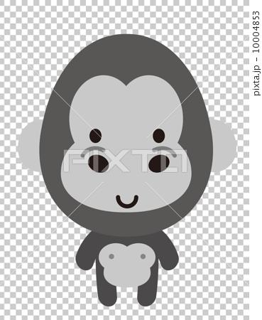 图库插图: 矢量 大猩猩 可爱