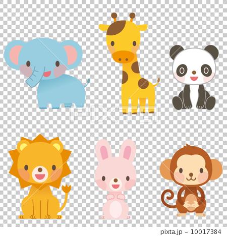 图库插图: 一组 动物 白底