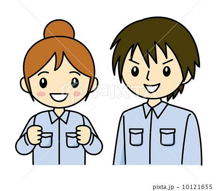 作業服の男女 10121655  次のページ ▶  工員 作業着のイラスト素材