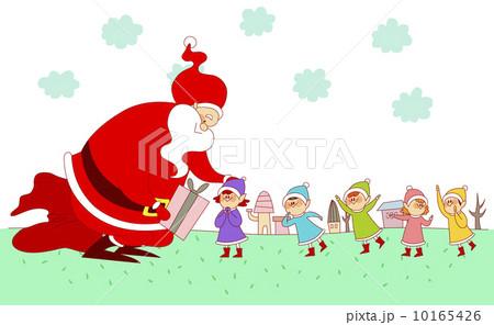 插图: 儿童 圣诞老人 仙子