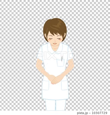 图库插图: 白弓鞠躬的女人