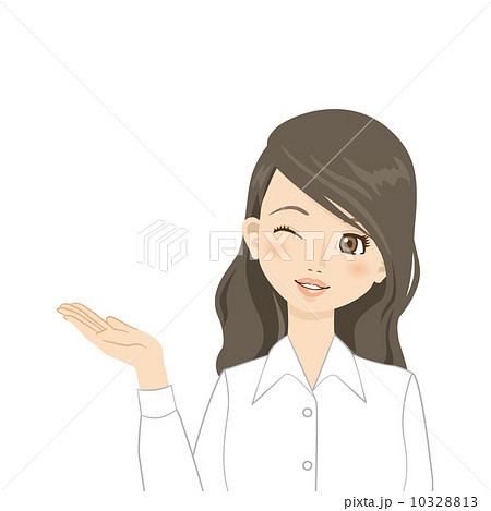 女性 Yシャツ ブラウス 10328813   Yシャツのイラスト素材