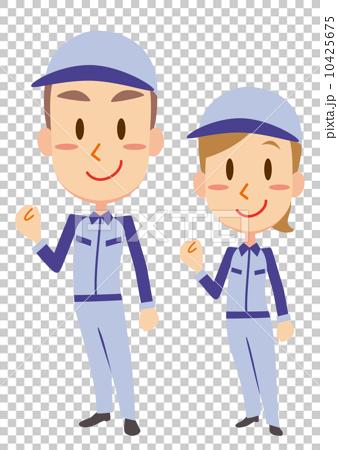 图库插图: 握拳 矢量 工人