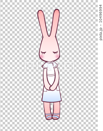 插图素材: 鞠躬兔/护士图片