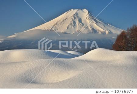 雪景 冬天景色 富士山-图片素材 [10736977] - pixta