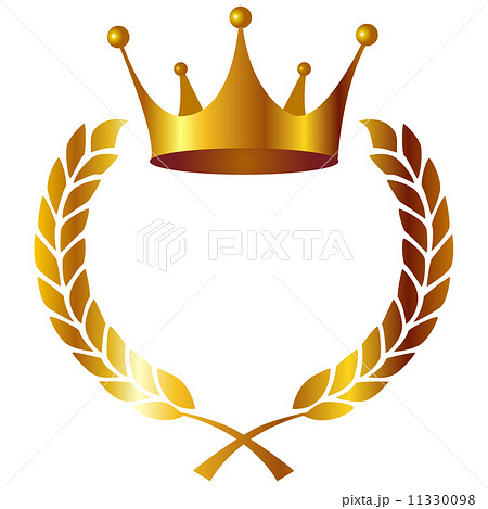 王冠 ローリエ フレーム 11330098  王冠 ローリエ フレーム 画質確認   王冠 ロ
