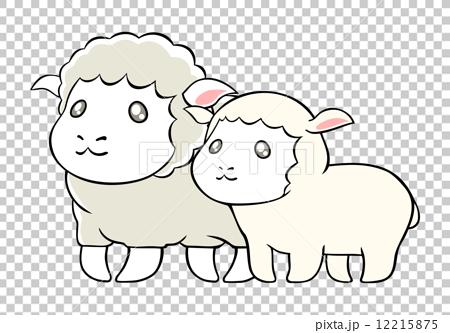 图库插图: 矢量 绵羊 可爱