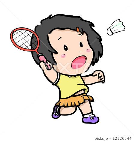 バトミントン バトミントン badminton player pictogram w...  バ