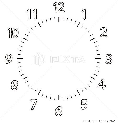 時計 数字 12927982 : 時計盤 素材 : すべての講義