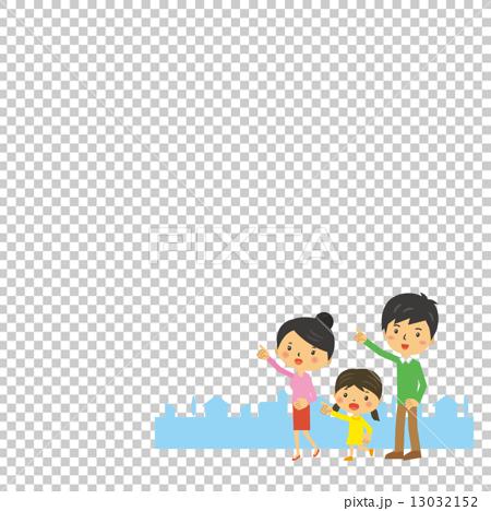 图库插图: 三口之家 矢量 家庭