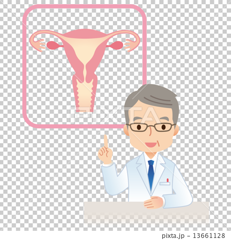 图库插图: 子宫女的身体医师图片
