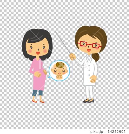 博士 首页 插图 人物 女性 孕妇 怀孕 医生 博士  *pixta限定素材仅在