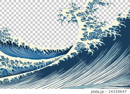 图库插图: 浮世绘 矢量 海浪
