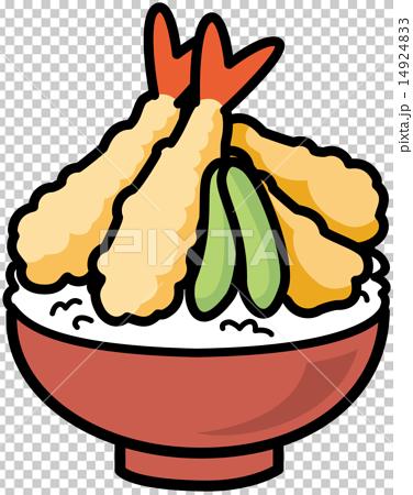 图库插图: 矢量 丼物(盖浇饭) 肌腱