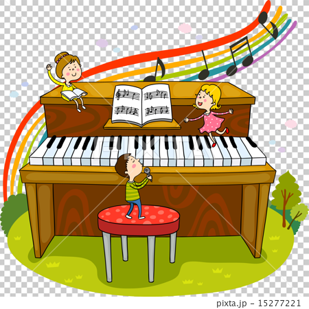 插图 工艺品 人物 钢琴 人物 人  *pixta限定素材仅在pixta网站,或