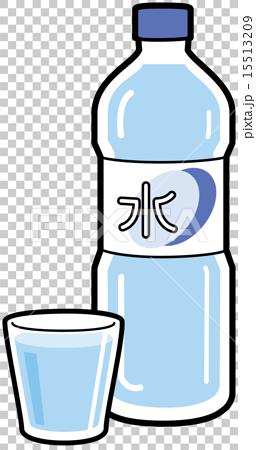 图库插图: 矢量图 饮用水 塑料瓶