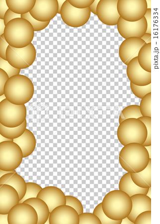 插图 住宅_室内装饰 照明_灯 灯泡 金球背景照片框架  *pixta限定素材