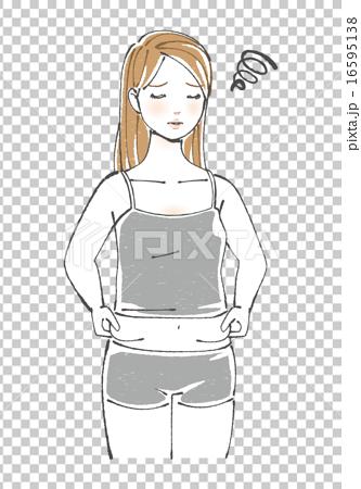 图库插图: 肥胖 赘肉 矢量
