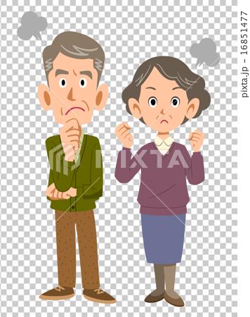 肥熟老夫妻交公粮_图库插图: 一对生气的老夫妻