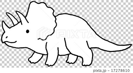 图库插图: 三角龙 恐龙 黑白