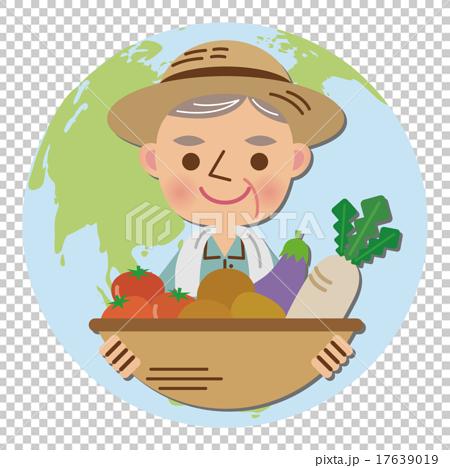 图库插图: 矢量 农民 农夫