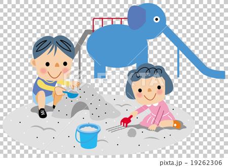 男孩 首页 插图 人物 男性 男孩 玩沙 公园 男孩  *pixta限定素材仅在