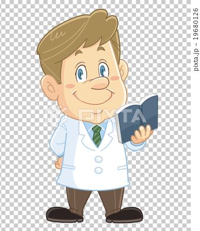 图库插图: 卡通人物 插图 指示