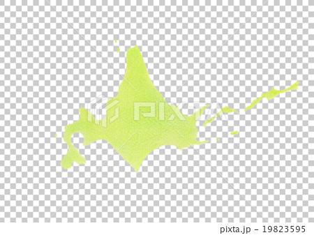 图库插图: 北海道手绘地图