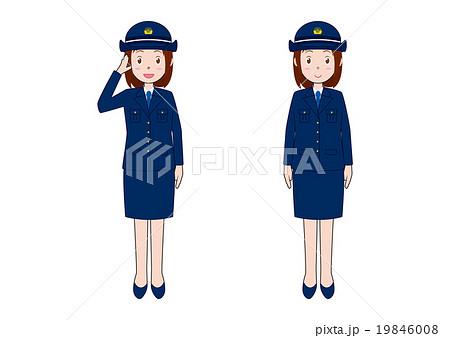 女性警察官のイラスト 19846008 女性警察官のイラストのイラスト素材 [19846008]