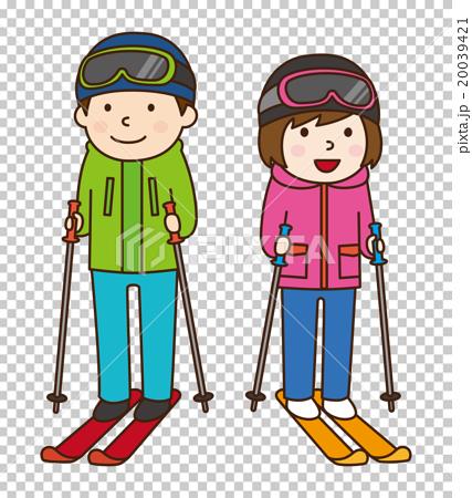 图库插图: 滑雪 冬季运动 女孩