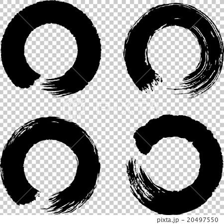 插图 休闲_爱好_游戏 爱好 书法 圆圈 圆的 毛笔绘画  *pixta限定素材