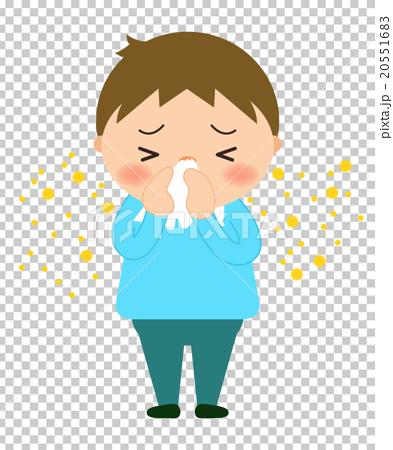 首页 插图 人物 男性 男孩 擤鼻涕 花粉过敏 鼻涕  *pixta限定素材仅