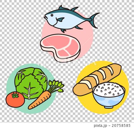 图库插图: 矢量 饮食 平衡